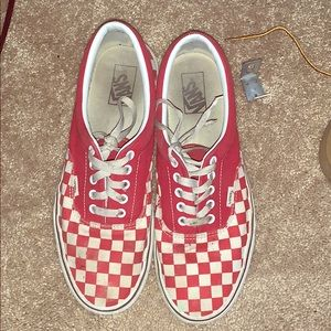 Red/white checkered vans. Size 11 men's